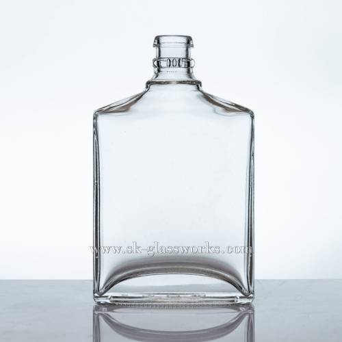 200ml Flat Glass Spirits Bottle