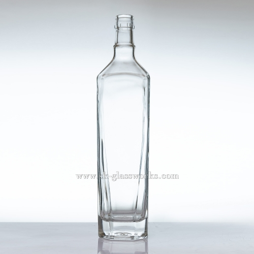 750ml Square Glass Spirit Bottle