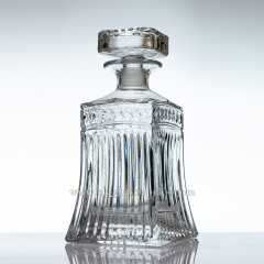 750ml Square Crystal Whiskey Decanter