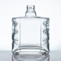 Flat 500ml Glass Bottle